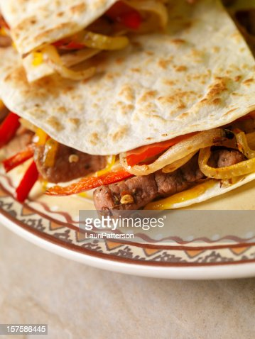 Mexican Beef Quesadilla : Stock Photo