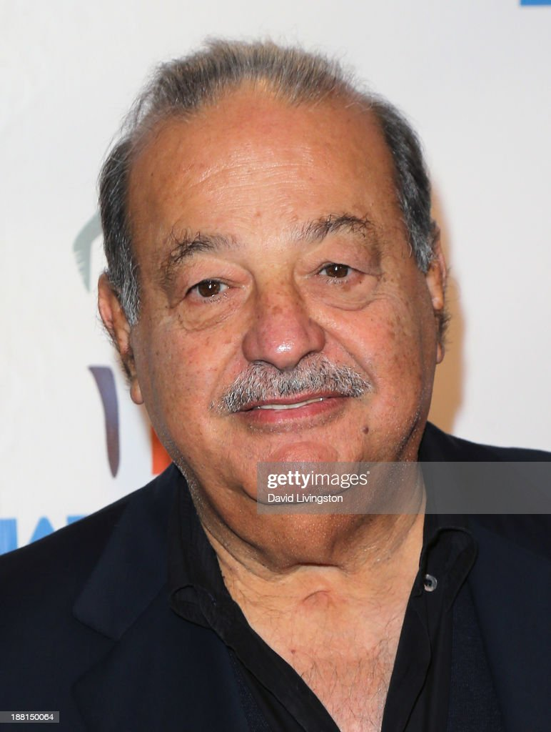 Mexican business magnate, investor, and philanthropist <a gi-track='captionPersonalityLinkClicked' href=/galleries/search?phrase=Carlos+Slim&family=editorial&specificpeople=584959 ng-click='$event.stopPropagation()'>Carlos Slim</a> attends Larry King's 80th birthday surprise party at Dodger Stadium on November 15, 2013 in Los Angeles, California.