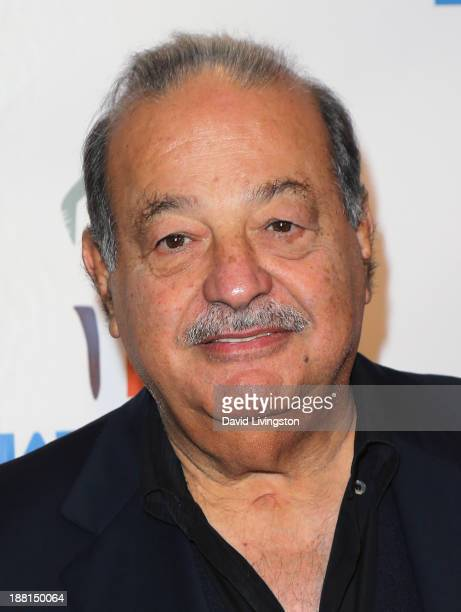 Mexican business magnate investor and philanthropist Carlos Slim attends Larry King's 80th birthday surprise party at Dodger Stadium on November 15...