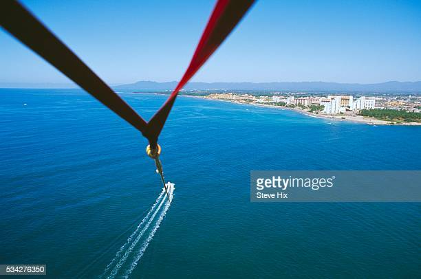 Mexican Coast from a Paraglider