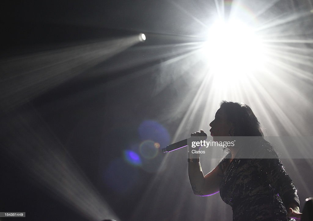 Mexican composer Carla Morrison performs in the Pepsi Center on October 17, 2012 in Mexico City, Mexico