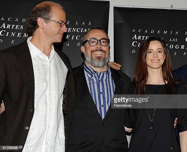 Mexican director Juan Carlos Rulfo director and president ot of Spain's Academy of Cinema Alex de la Iglesia and Actress Pilar Lopez de Ayala attend...