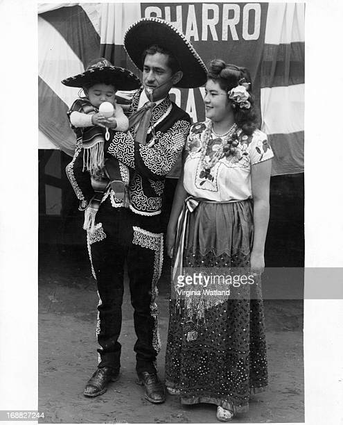 Mexican Family at Charro Days in Brownsville Texas 1955