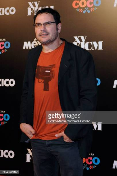 Mexican filmmaker Carlos Cuaron poses from the red carpet during the Inauguration of the XV Morelia International Film Festival on October 20 2017 in...