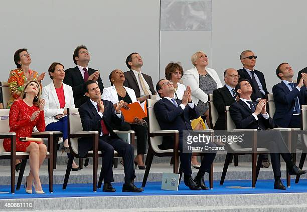 Mexican First Lady Angelica Rivera Mexican President Enrique Pena Nieto French President Francois Hollande and French Prime Minister Manuel Valls...