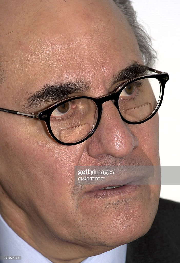Mexican former Secretary of Commerce Herminio Blanco, one of the candidates for the position of the World Trade Organization (WTO) Director General, speaks during an interview with AFP, on February 13, 2013 in Mexico City. AFP PHOTO/OMAR TORRES