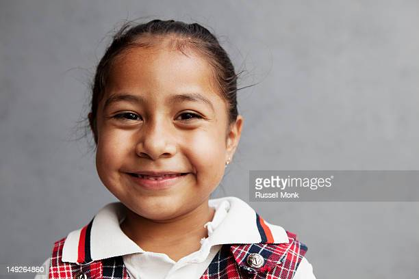 Mexican happy smiling girl.