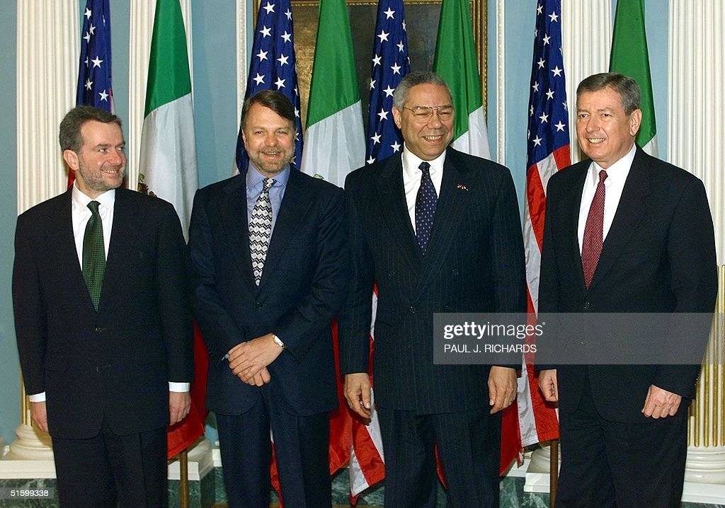 Mexican Interior Minister Santiago Creel Mexican Foreign Minister Jorge Castaneda US Secretary of State Colin Powell and US Attorney General John...
