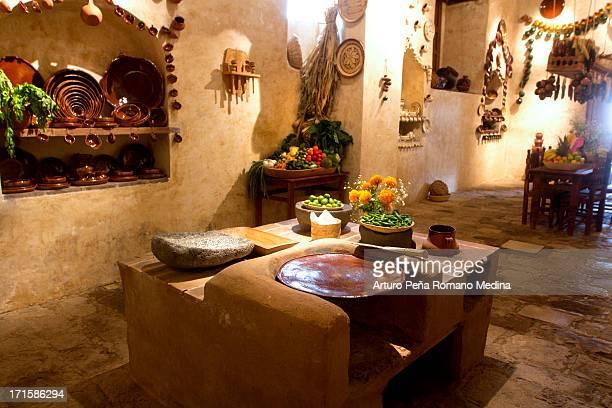 Mexikanische Küche und Esszimmer