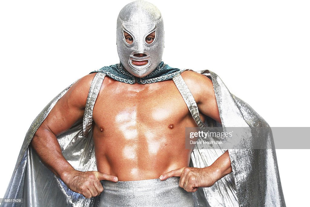 Mexican Lucha Libre Wrestler El Hijo Del Santo poses for a portrait at the Roundhouse in Camden on June 5 2008 in London England Making his debut in...