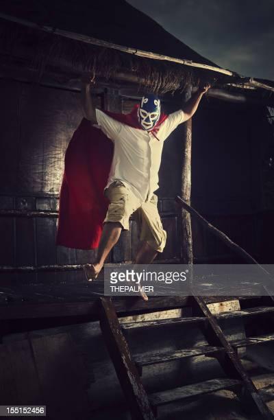 Mexikanische luchador offensiver