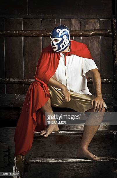 mexican luchador thinking about his next match