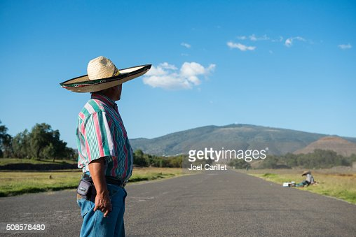 Mexican man in Teotihuacan, Mexico : Stockfoto