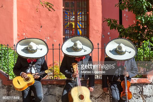 Mexican Mariachi group doing a siesta, Mexico