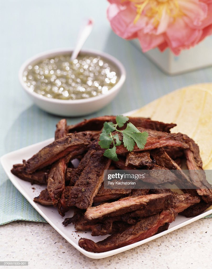 Mexican meat dish : Stock Photo