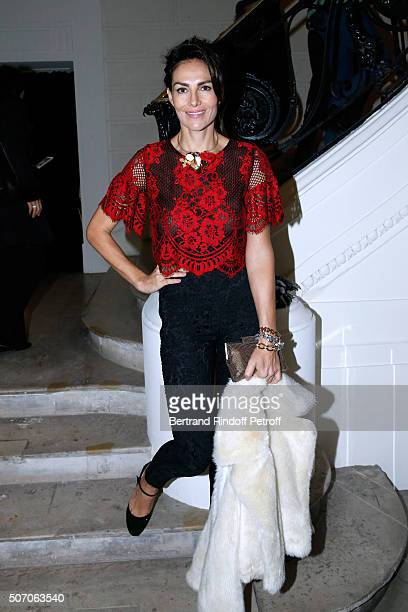 Mexican Model Adriana Abascal attends the Jean Paul Gaultier Spring Summer 2016 show as part of Paris Fashion Week on January 27 2016 in Paris France