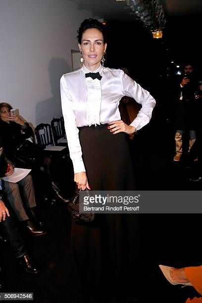 Mexican Model Adriana Abascal attends the Stephane Rolland Spring Summer 2016 show as part of Paris Fashion Week on January 26 2016 in Paris France