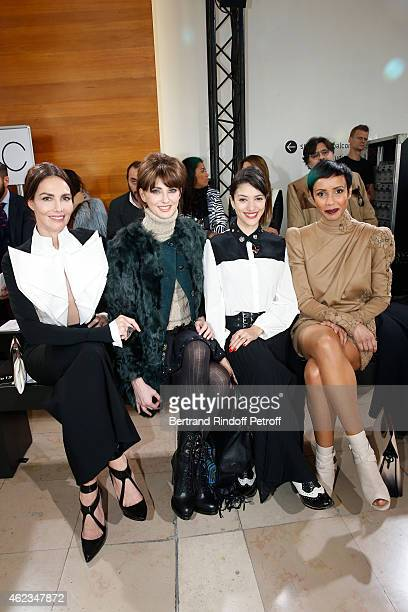 Mexican Model Adriana Abascal Frederique Bel Vanessa Guide and Sonia Rolland attend the Stephane Rolland show as part of Paris Fashion Week Haute...