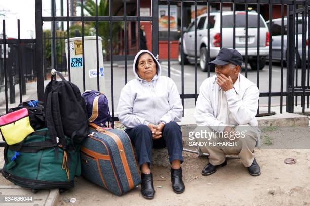 Mexican Nationals wait for their bus after crossing the USMexico Border at the San Ysidro Port of Entry on Friday February 10 2017 Department of...