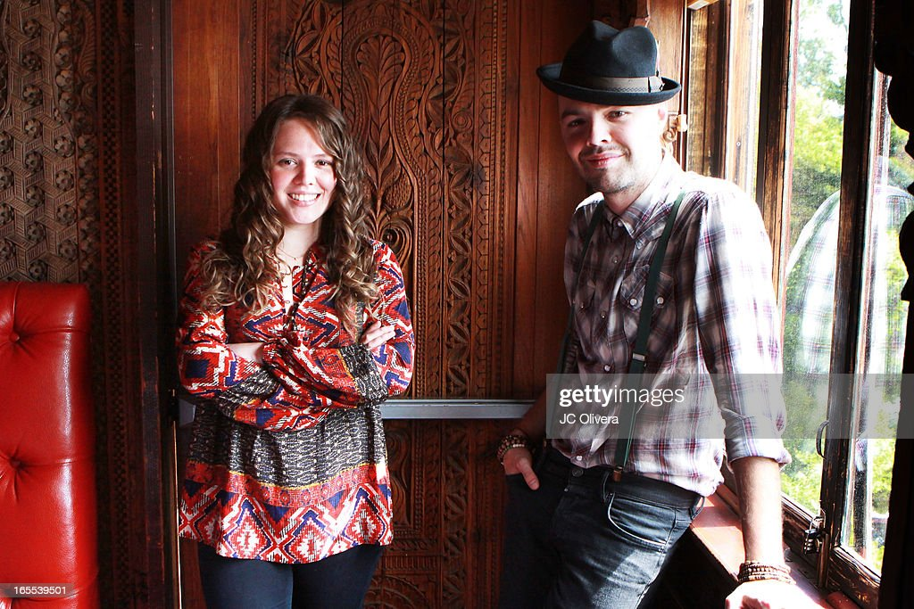 Mexican Pop Duo Jesse (R) and Joy attend Jesse & Joy's 'Latinos Imparables' Tour Announcement Press Conference at House of Blues Sunset Strip on April 4, 2013 in West Hollywood, California.