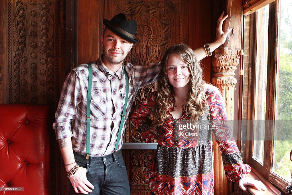 Mexican Pop Duo Jesse (L) and Joy attend Jesse & Joy's 'Latinos Imparables' Tour Announcement Press Conference at House of Blues Sunset Strip on April 4, 2013 in West Hollywood, California.