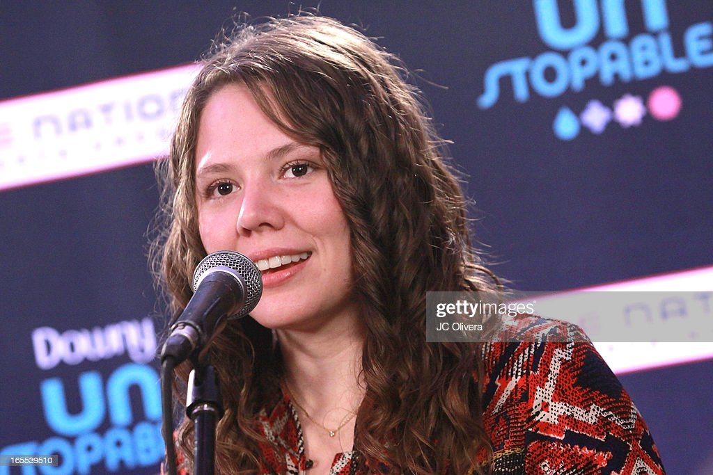 Mexican Pop Singer Joy Huerta attends Jesse & Joy's 'Latinos Imparables' Tour Announcement Press Conference at House of Blues Sunset Strip on April 4, 2013 in West Hollywood, California.