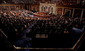 Mexican President Felipe Calderon addresses a joint session of the US Congress on the floor of the House House of Representatives at the US Capitol...