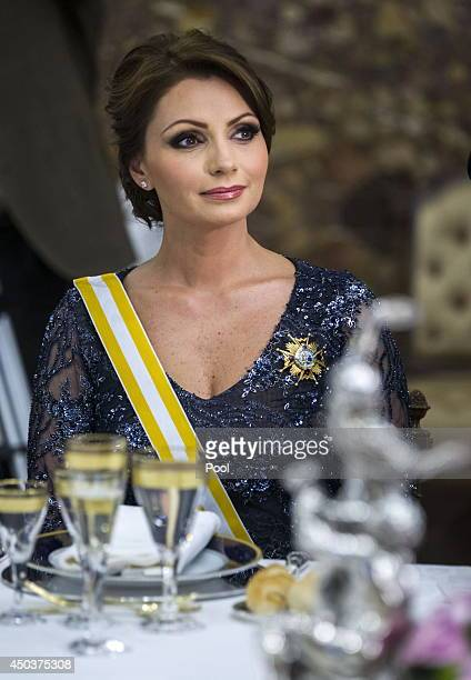 Mexican President's wife Angelica Rivera attends a Gala Dinner in honour of Mexican President Enrique Pena Nieto at The Royal Palace on June 9 2014...