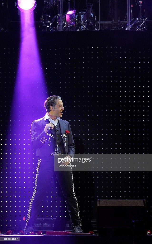 Alejandro Fernandez Performs in Concert in Madrid