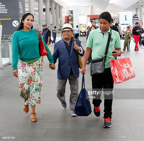 Mexican singer Armando Manzanero is seen at International Airport of Mexico City on June 02 2014 in Mexico City Mexico