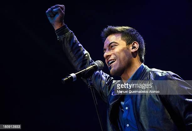 Mexican singer Carlos Rivera performs live in Cadena Dial 'Lo Mejor De Aqui Y De Alli' 2013 at Pabellon Municipal Fuente de San Luis on October 25...
