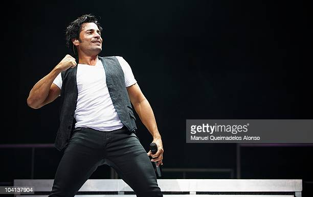 Mexican singer Chayanne performs during a concert at the Veles e Vents zone on September 15 2010 in Valencia Spain