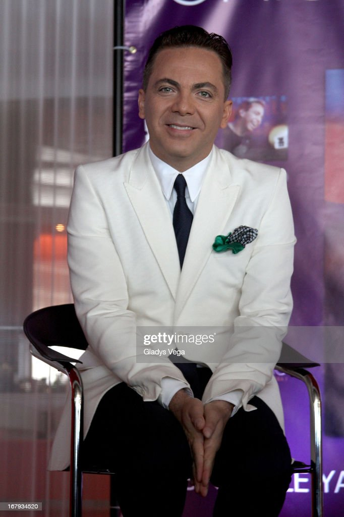 Mexican singer Cristian Castro talks to media in a press conference on May 2, 2013 in San Juan, Puerto Rico.