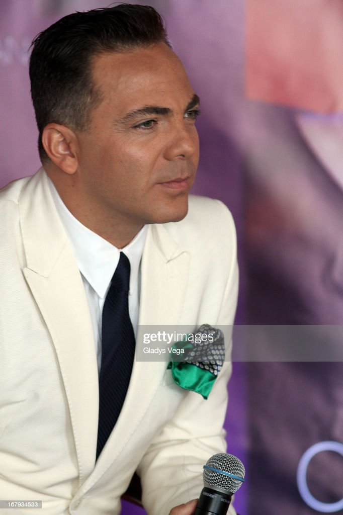 Mexican singer <a gi-track='captionPersonalityLinkClicked' href=/galleries/search?phrase=Cristian+Castro&family=editorial&specificpeople=216449 ng-click='$event.stopPropagation()'>Cristian Castro</a> talks to media in a press conference on May 2, 2013 in San Juan, Puerto Rico.