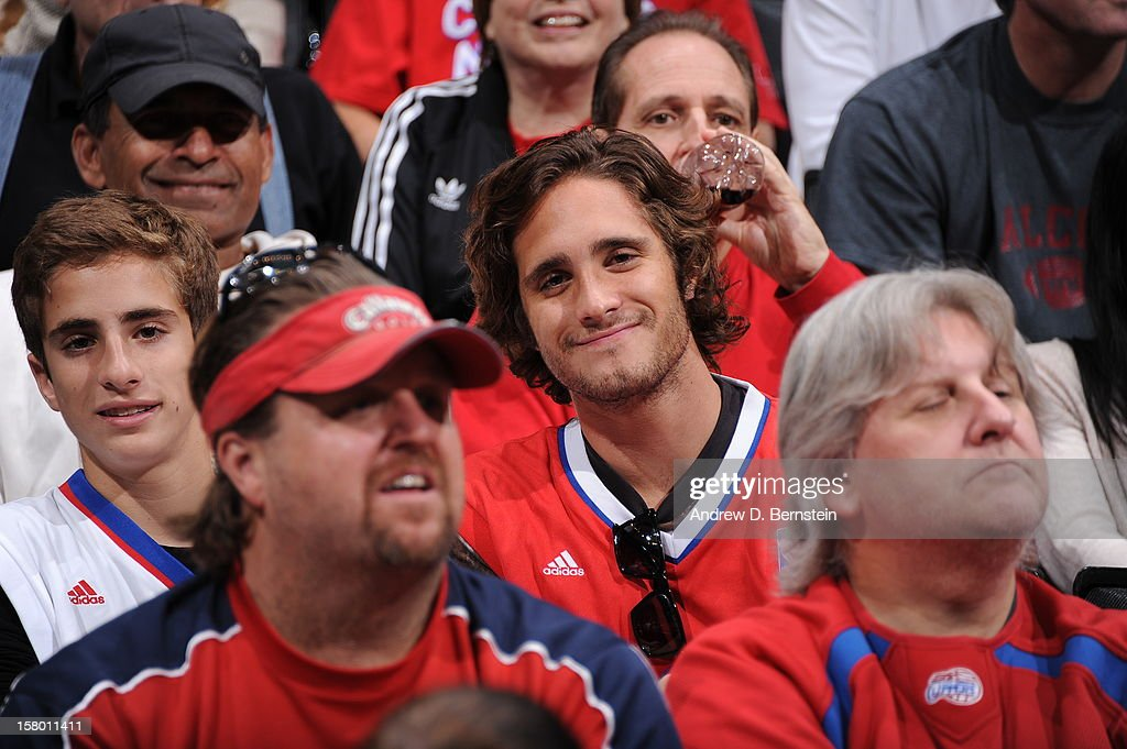 Mexican singer Diego Boneta attends a game between the Phoenix Suns and the Los Angeles Clippers at Staples Center on December 8, 2012 in Los Angeles, California.