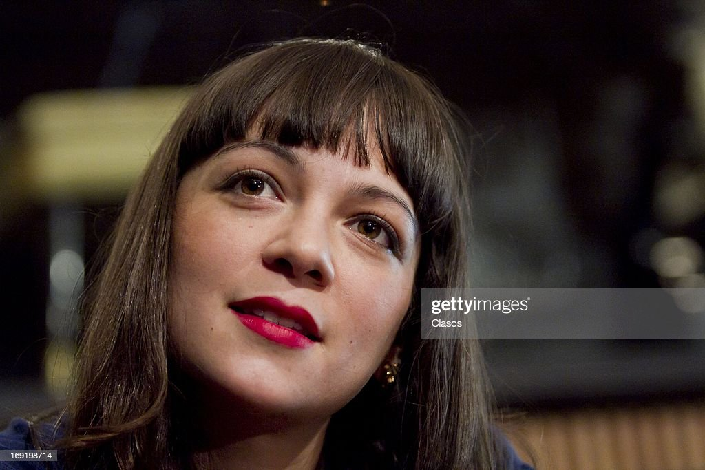 Mexican singer <a gi-track='captionPersonalityLinkClicked' href=/galleries/search?phrase=Natalia+Lafourcade&family=editorial&specificpeople=2816222 ng-click='$event.stopPropagation()'>Natalia Lafourcade</a> during a press conference to announce her performance at the Plaza Condeza on May 21, 2013 in Mexico City, Mexico.