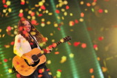 Mexican singer Tirzah Joy Huerta Uecke of poprock duo Jesse Joy performs during the Viña del Mar International Song Festival on February 28 2014 in...