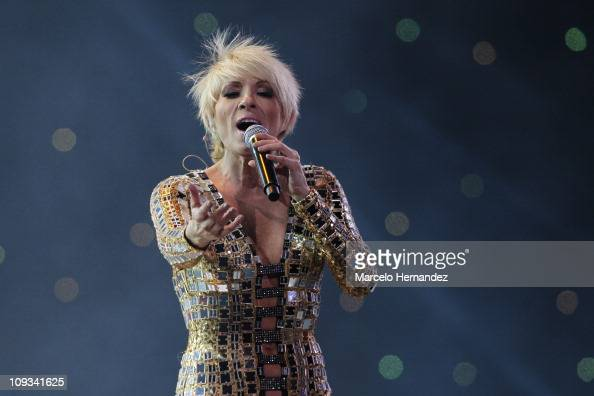 Mexican singer Yuri performs during the 52th International Song Festival on February 21 2011 in Vina Del Mar Chile