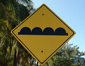 Mexican Speed Bumps Sign View In Cancun Mexico