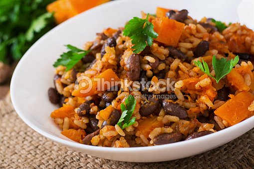 Vegana mexicana vegetal haricot pilaf con granos y for Cultura francesa comida