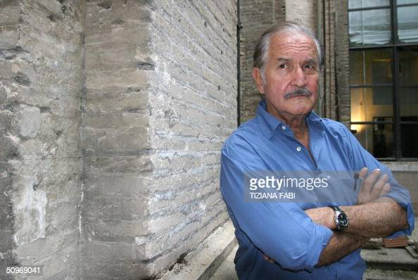 Mexican writer Carlos Fuentes poses 17 June 2004 in Rome where he is attending a literature contest AFP PHOTO/Tiziana FABI