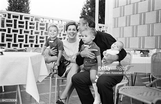 MexicanAmerican actor Anthony Quinn and his wife Jolanda Addolori with their children Francesco Danny e Lorenzo 1960s