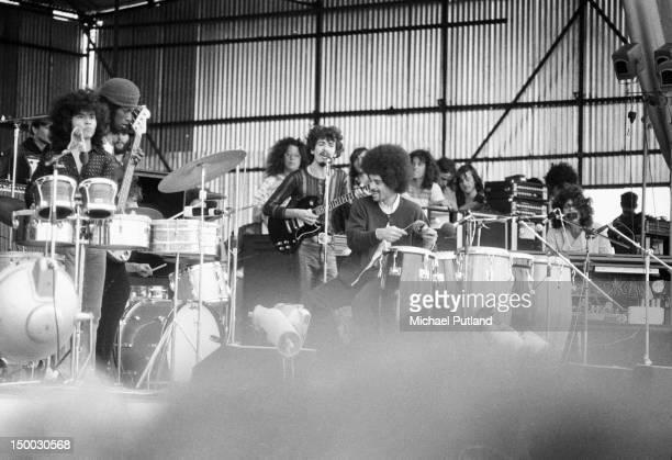 MexicanAmerican guitarist Carlos Santana performing with his band Santana at the Bath Festival Shepton Mallet Somerset 28th June 1970