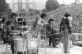MexicanAmerican musician Carlos Satana and his band perform at the Woodstock Festival Bethel NY August 1969