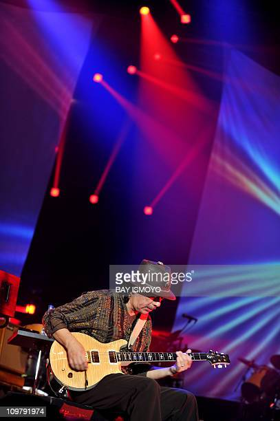 MexicanAmerican rock guitarist Carlos Santana performs at the annual Java Jazz Festival 2011 in Jakarta on March 5 2011 AFP PHOTO / Bay ISMOYO
