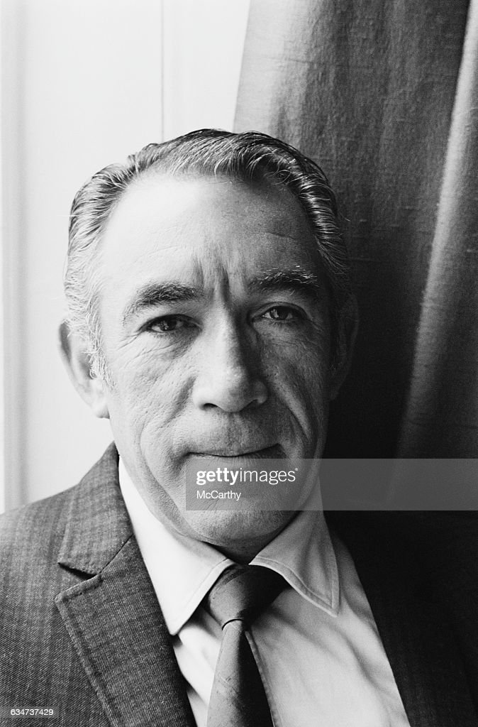Mexican-born actor Anthony Quinn (1915 - 2001) in London, UK, 1st June 1970.