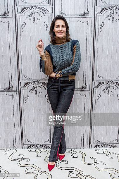 Mexicanborn fashion and 'stylepreneur' Adriana Abascal discusses fashion week at AOL Studios In New York on February 15 2016 in New York City