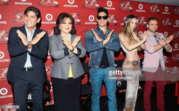 Mexician TV show host Alfonso de Anda aka Poncho de Anda and recording artists Angelica Maria Jesus Alberto Miranda Perez aka Chino of Chino Nacho...