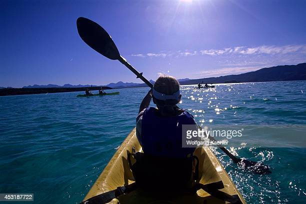 Mexico Baja California Coronado Island Girl In Kayak Model Release 200209237