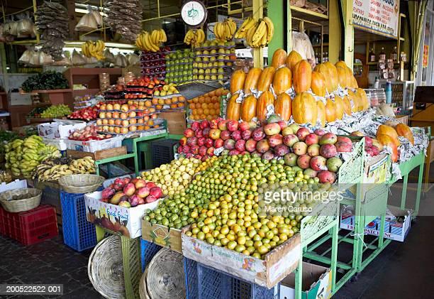 Mexico, Baja, Tijuana, Hidalgo Market, fruit on display
